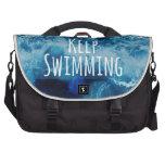 Keep Swimming Ocean Motivational Laptop Bag