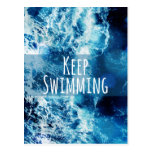 Keep Swimming Ocean Motivational Post Card