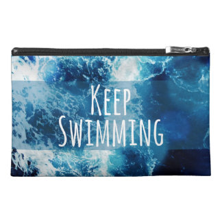 Keep Swimming Ocean Motivational Travel Accessories Bags