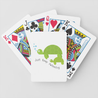 Keep Swimming Bicycle Playing Cards