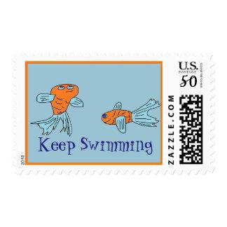 Keep Swimming Stamp
