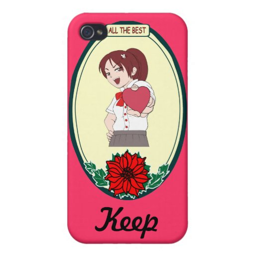 Keep talking - heart in my hand covers for iPhone 4