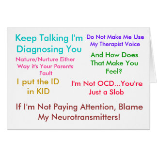 Keep Talking I'm Diagnosing You Card