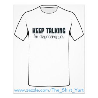 Keep Talking I'm Diagnosing You Flyer