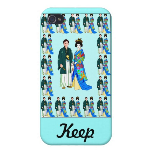 Keep talking -Japanese couple iPhone 4 Cover