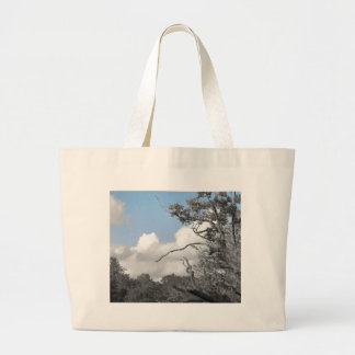 Keep the blue above us large tote bag