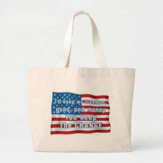 Keep The Change Canvas Bag