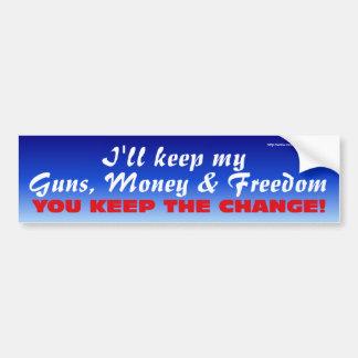 Keep the Change Bumper Car Bumper Sticker