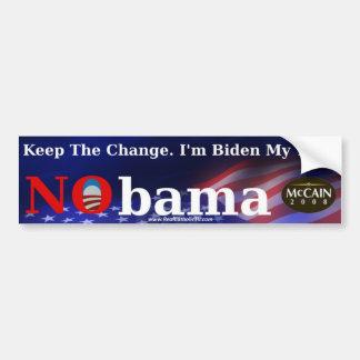 """Keep the Change"" Bumper Sticker"