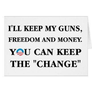 """Keep the """"Change"""" Card"""