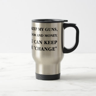 "Keep the ""Change"" 15 Oz Stainless Steel Travel Mug"