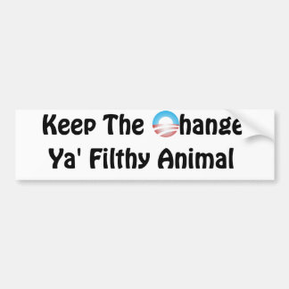 Keep the Change Obama - Home Alone Car Bumper Sticker