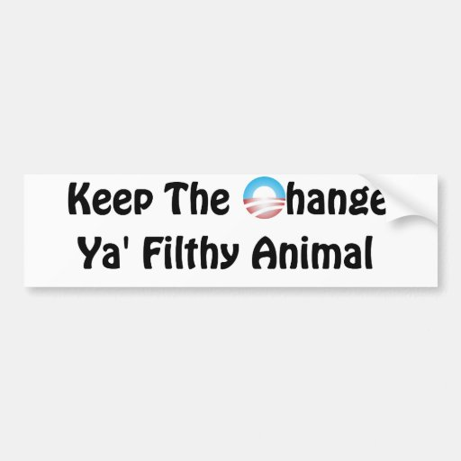 Keep the Change Obama - Home Alone Bumper Stickers