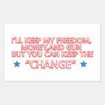 Keep the Change Rectangular Stickers
