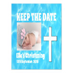 Keep the Date Christening Magnetic Card