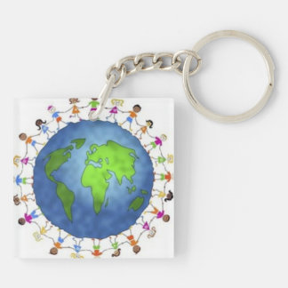 Keep The Dream Alive Key Ring Double-Sided Square Acrylic Keychain