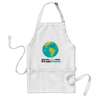 Keep The Earth Clean Adult Apron