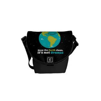 Keep The Earth Clean Messenger Bag