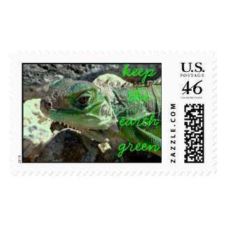 Keep the earth green stamps