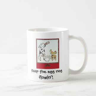Keep the egg nog flowin'! coffee mug