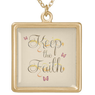 Keep the Faith 1 Gold Plated Necklace