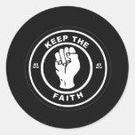 Keep The Faith 45rpm vinyl Classic Round Sticker