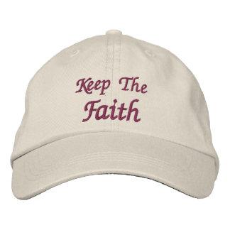 Keep The Faith Inspirational Embroidered Baseball Cap