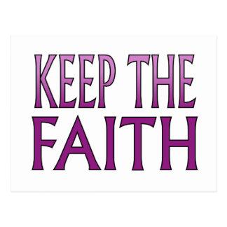 Keep the Faith Postcard
