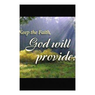 Keep the Faith Custom Stationery