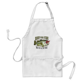 Keep the Fish by Mudge Studios Adult Apron