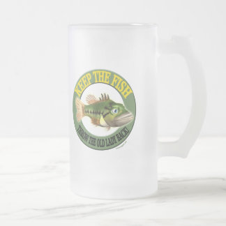 Keep The Fish Fishing T-shirts and Gifts Frosted Glass Beer Mug