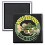 Keep The Fish Fishing T-shirts 2 Inch Square Magnet