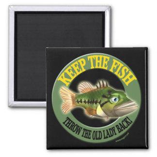 Keep The Fish Fishing T-shirts Magnet