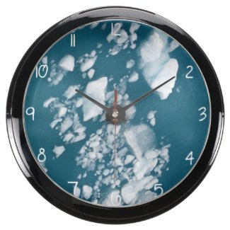 Have you ever seen a clock that doubles as a fish tank Keep the fish tank cool with Icebergs! Aqua Clock