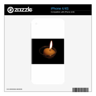 Keep the Flame Burning Candle Skin For iPhone 4