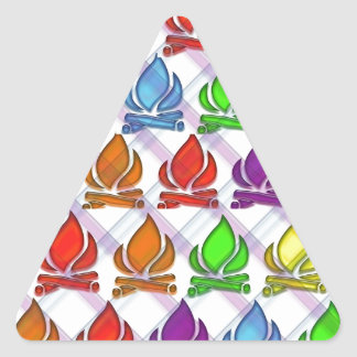 Keep the Flame Going ... Triangle Sticker