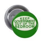 Keep the government out of the bedroom pinback buttons