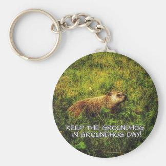Keep the Groundhog in Groundhog Day keychain