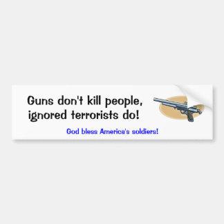 Keep the guns, rid the terrorists car bumper sticker