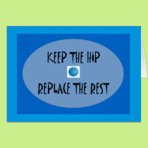 Keep the hip. Replace the rest. Card