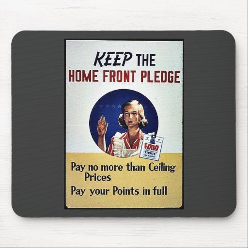 Keep The Home Front Pledge Mouse Pad