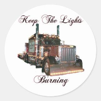 Keep The Lights Burning Sticker
