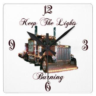 Keep The Lights Burning Wall Clocks