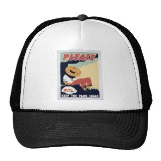 Keep the Park clean Trucker Hat