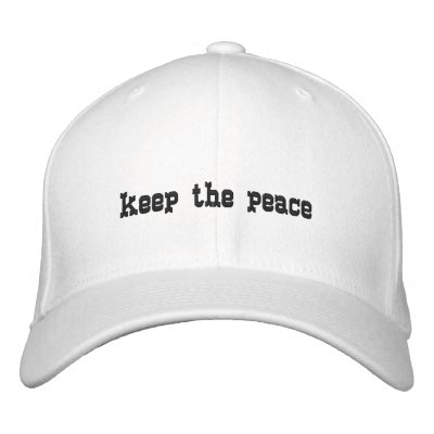 keep the peace embroidered baseball caps