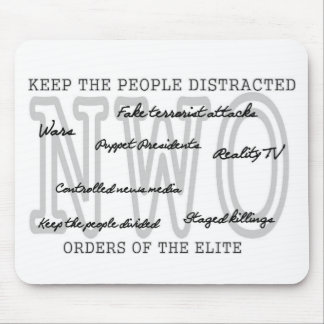 Keep the people distracted mouse pad