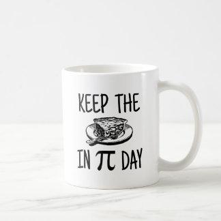 Keep The Pie in Pi Day Coffee Mug