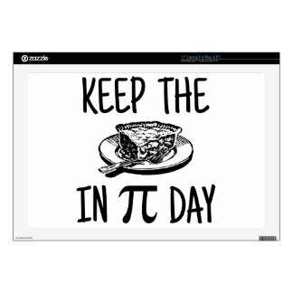 Keep The Pie in Pi Day Decal For Laptop