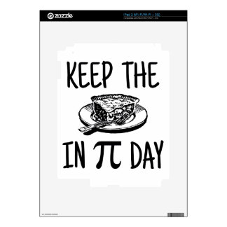 Keep The Pie in Pi Day Decal For The iPad 2