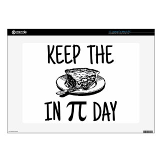 Keep The Pie in Pi Day Decals For Laptops